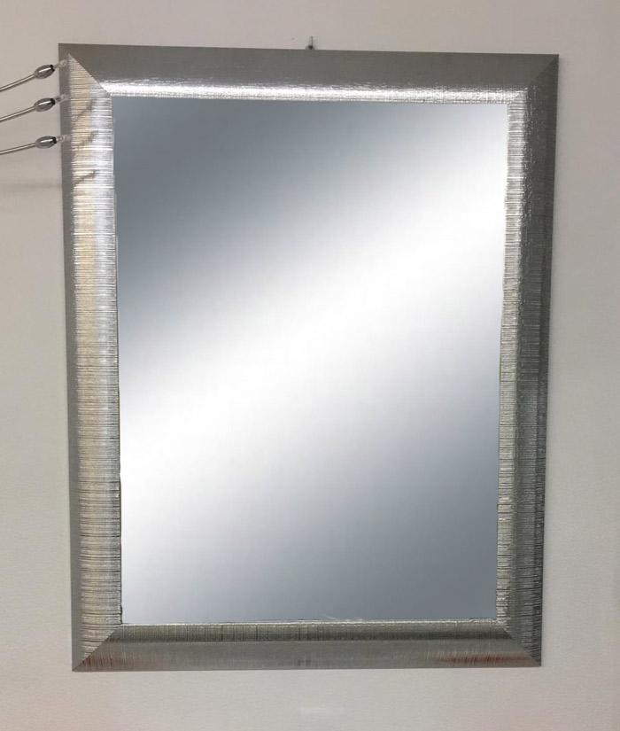 Specchiera con cornice argento