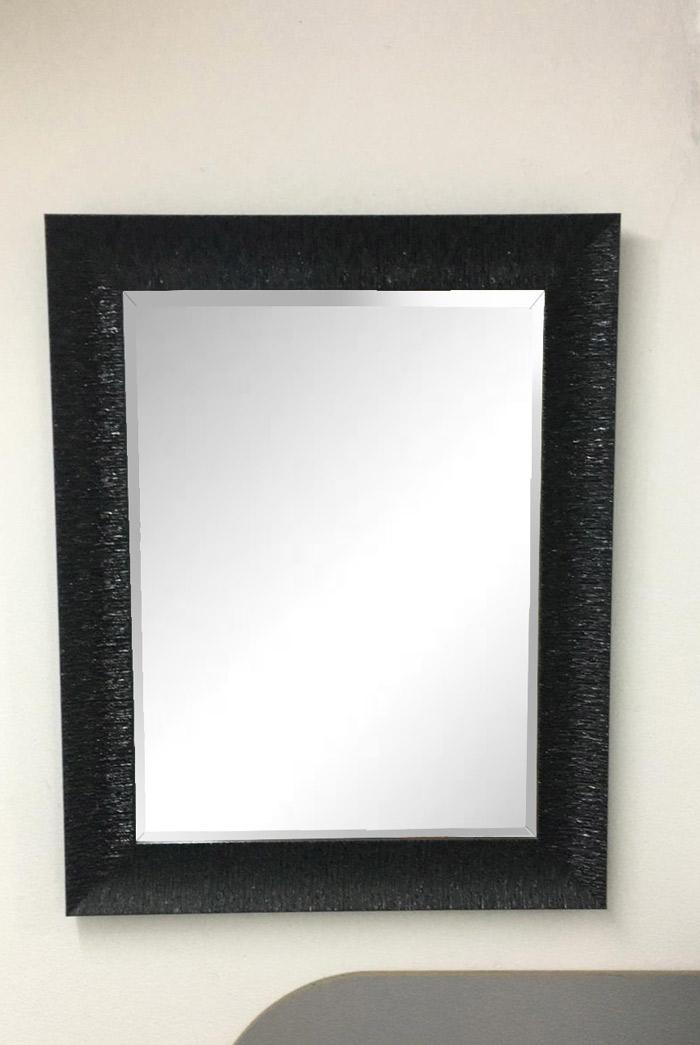 Specchiera con cornice nera di legno