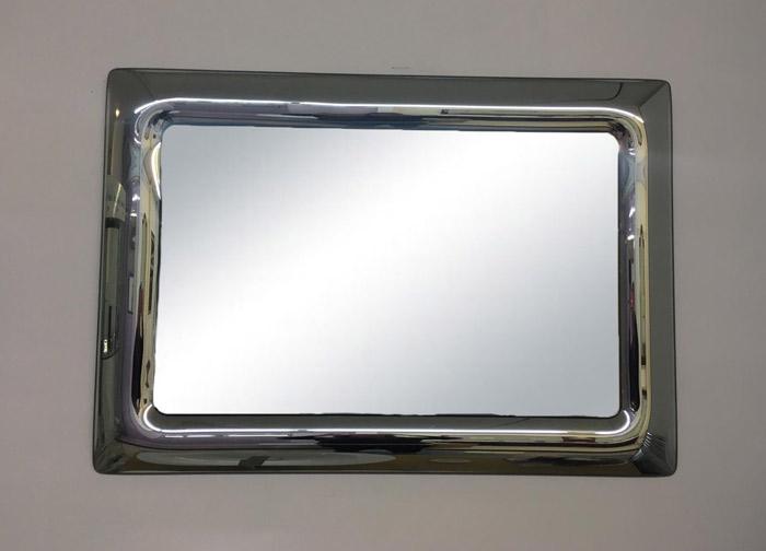 Specchiera bagno con cornice in metallo